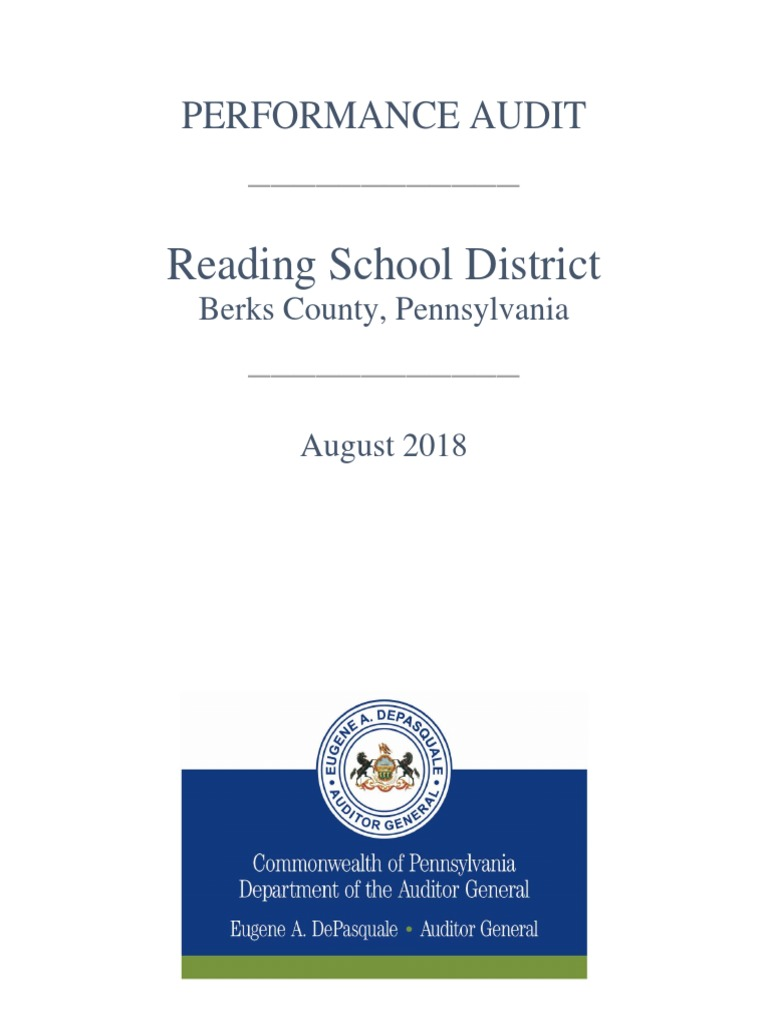 reading school district 2018 audit audit adequate yearly progress