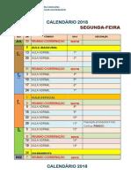CEMA DED - Calendário 2018 (2sem)