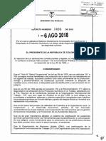 Decreto 1496 Del 06 de Agosto de 2018 SGA