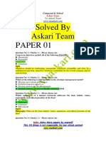 Strategic Management - MGT603 Solved Paper
