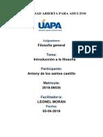 Antony de Los Santos - Filosofia Unidad 1