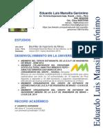Eduardo L. Mansilla Gerónimo-CV Documentado-Marzo 2018