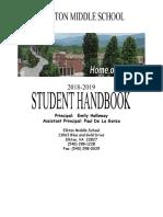 student handbook  2018-2019