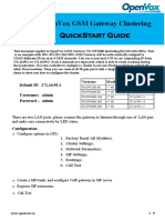 Quickstart Guide of OpenVox GSM Gateway vs-GW1600 Series With Clustering