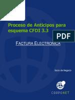 Proceso Anticipos CFDI 3.3 Esquema SAP
