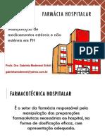 Aula 06 - Manipulação de Medicamentos Estéreis e Não