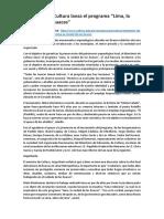 Huacas General Progrmas y Otras Huacas