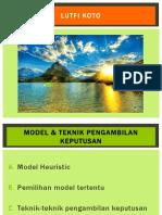Model Dan Teknik Pengambilan Keputusan