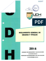 Reglamento General de Grados y Títulos