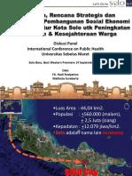 Kebijakan Rencana Strategis Dan Implementasi Pembangunan Sosial Ekonomi FX. Hadi Rudyatmo