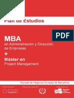 Plan de Estudios - MBA + Máster en Project Management