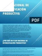 Plan Nacional de Diversificación Productiva