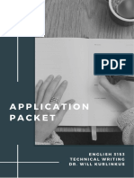 Application Packet