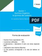 Sesion 1 Teoria de Quimica Organica 2018-I