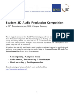 Student 3 d Audio Production Competition 2018
