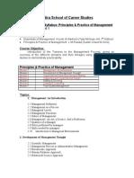 PPM Syllabus