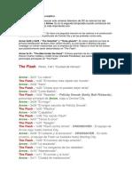 Guía de Crossovers Arrow, The Flash, Legends of Tomorrow y Supergirl ACTUALIZADA Con TODOS Los Capítulos de La Temporada