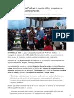 15-08-2018- Claudia Pavlovich manda útiles escolares a municipios con alta marginación- Expreso