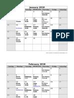2018 Meeting Schedule_ Revised 08 16
