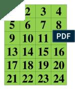 Numeros de Calendario