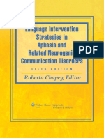 351569453 Roberta Chapey Language Intervention Strategies in Aphasia and Related Neurogenic Communication Disorders PDF