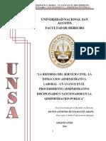LA REFORMA DEL SERVICIO CIVIL LA INFRACCION ADMINISTRATIVA LABORAL.pdf