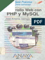 Desarrollo Web Con PHP Con MySQL