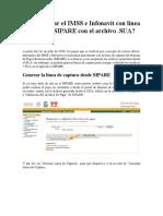 Pagar IMSS e Infonavit Con Línea de Captura SIPARE Con El Archivo SUA