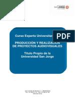 Programa Produccion y Realizacion de Proyectos Audiovisuales