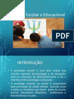 Psicologia Educacional, Escolar