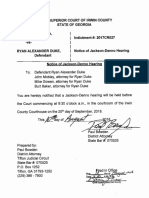 Notice of Jackson Denno Hearing