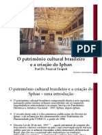 Aula O Patrimônio Cultural Brasileiro