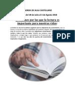 Agenda de Aula Castellano Semana Del 30 de Julio Al 3 de Agosto 2018 (2)