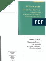 Book OBSERVANDO OBSERVADORES- LIBRO CUALITATIVO 2009 Flores.pdf
