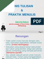 Jenis-Jenis Tulisan & Praktik Menulis OK.ppt