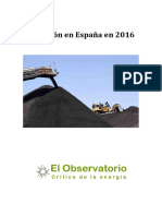 El Carbon en Espana en 2016