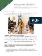 21-02-2018- Creación de mil 200 empleos en Sonora beneficiará a jóvenes-lasillarota
