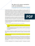 Adicionales de Obra en La Nueva Normativa y La Directiva de La Contraloría