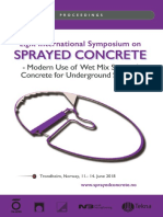 Eight International Symposium on Sprayed Concrete - Modern Use of Wet Mix Sprayed Concrete for Inderground Support 2018
