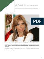 16-08-2018- Gobernadora Claudia Pavlovich pide más recursos para Sonora-  Debate