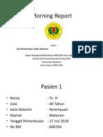 Morning Report 1 - L M Sabar Setiawan