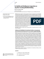 Influence of Metal Transfer Stability and Shielding Gas Composition On