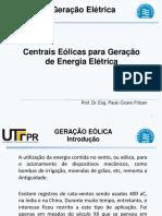 Geração Eletrica - Centrais Eolicas