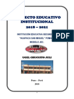 Estructura Del Documento Pei 2018 Final