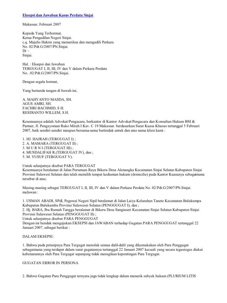 Contoh Surat2 Haper