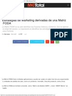 Estrategias de Marketing Derivadas de Una Matriz FODA - Mercadotecnia Total