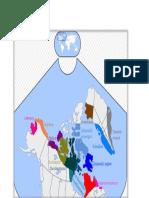 Inuits, mapa de ubicación de inuits