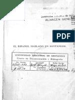 El Español Hablado en Santander