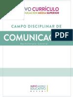 Campo disciplinar comunicación bachillerato