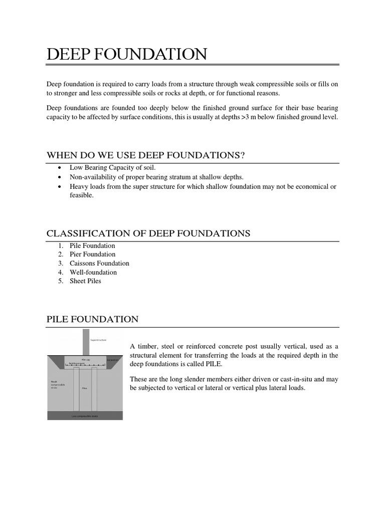 Deep Foundation | Deep Foundation | Foundation (Engineering)